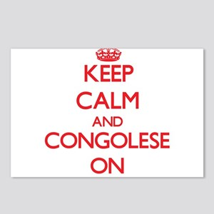 Keep Calm and Congolese O Postcards (Package of 8)