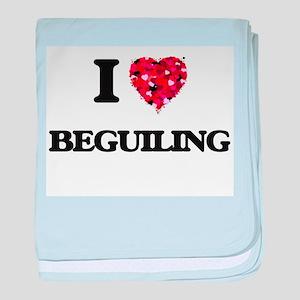 I Love Beguiling baby blanket