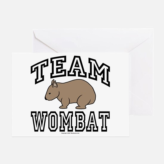 Team Wombat Greeting Card