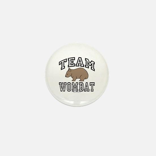 Team Wombat Mini Button