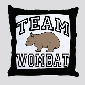 Team Wombat Throw Pillow