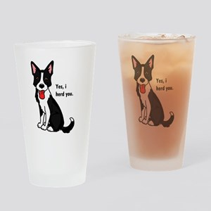 Border Collie -yes, i herd you Drinking Glass