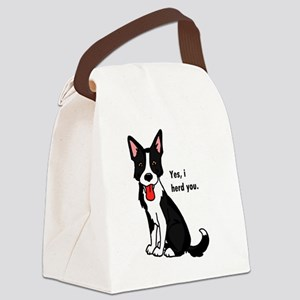 Border Collie -yes, i herd you Canvas Lunch Bag