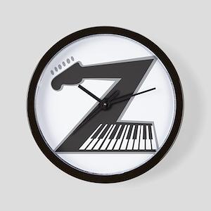 Z Guitar Piano Wall Clock