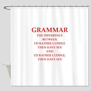 grammar Shower Curtain