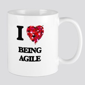 I Love Being Agile Mugs