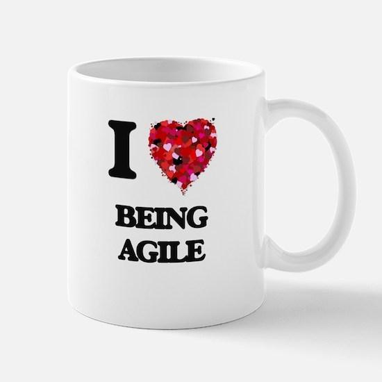 I Love Being Agile Mugs