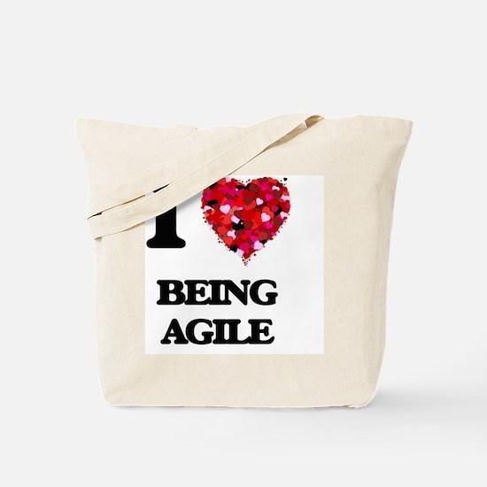 I Love Being Agile Tote Bag