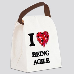 I Love Being Agile Canvas Lunch Bag
