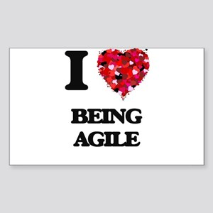 I Love Being Agile Sticker
