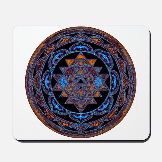 Lakshmi Yantra Mandala- Lapis Mousepad