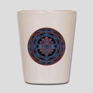 Lakshmi Yantra Mandala- Lapis Shot Glass