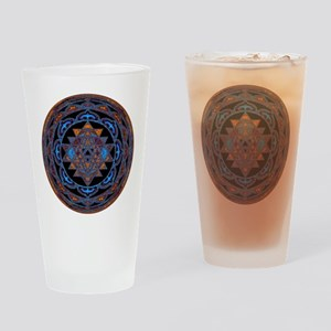 Lakshmi Yantra Mandala- Lapis Drinking Glass