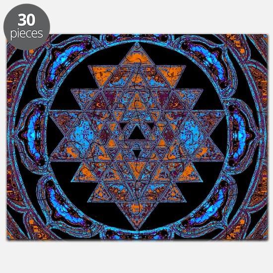 Lakshmi Yantra Mandala- Lapis Puzzle