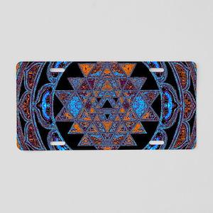 Lakshmi Yantra Mandala- Lap Aluminum License Plate
