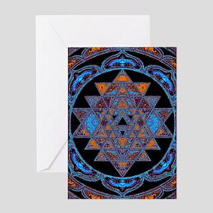 Lakshmi Yantra Mandala- Lapis Greeting Cards