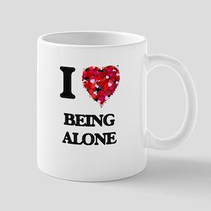 I Love Being Alone Mugs