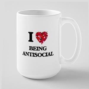 I Love Being Antisocial Mugs