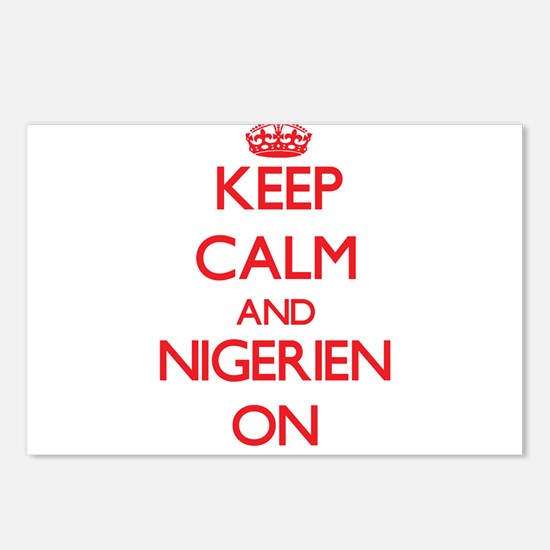Keep Calm and Nigerien ON Postcards (Package of 8)