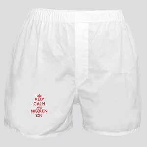 Keep Calm and Nigerien ON Boxer Shorts