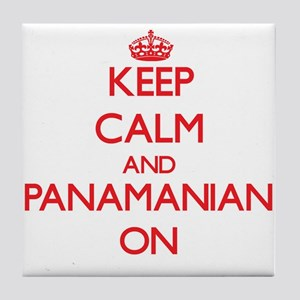 Keep Calm and Panamanian ON Tile Coaster