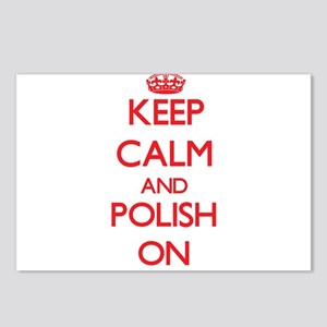 Keep Calm and Polish ON Postcards (Package of 8)