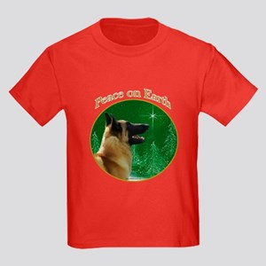 Malinois Peace Kids Dark T-Shirt