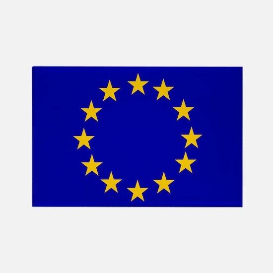 Square European Union Flag Magnets
