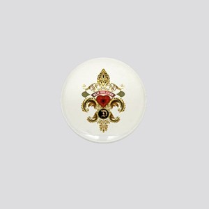 New Orleans Monogram D Mini Button