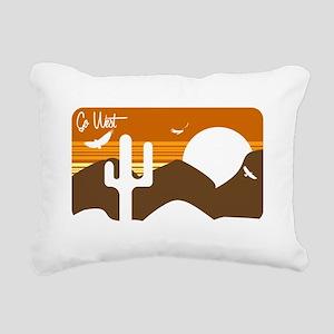Go West Rectangular Canvas Pillow