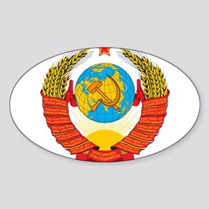 USSR Coat of Arms 15 Republic Emblem Sticker