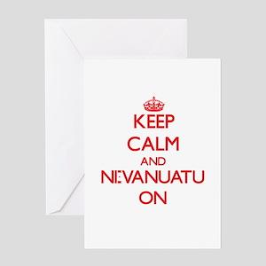 Keep Calm and Ni-Vanuatu ON Greeting Cards