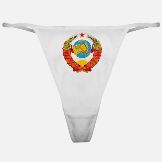 USSR Coat of Arms 15 Republic Emblem Classic Thong