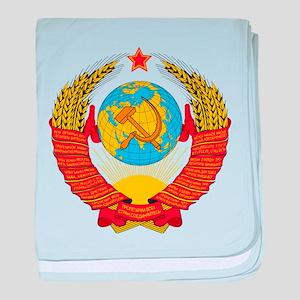 USSR Coat of Arms 15 Republic Emblem baby blanket