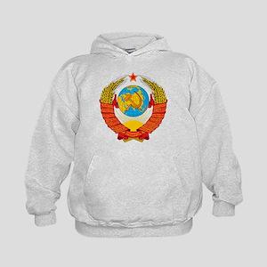 USSR Coat of Arms 15 Republic Emblem Kids Hoodie