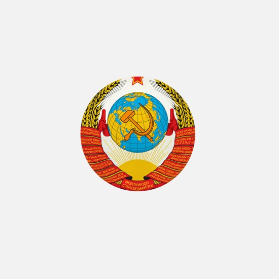 USSR Coat of Arms 15 Republic Emblem Mini Button
