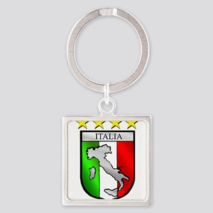 Italy flag emblem coat of arms Map Crest Keychains