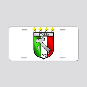 Italy flag emblem coat of a Aluminum License Plate