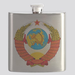 USSR Coat of Arms 15 Republic Emblem Flask