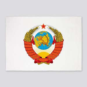 USSR Coat of Arms 15 Republic Emble 5'x7'Area Rug
