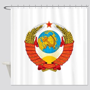 USSR Coat of Arms 15 Republic Emble Shower Curtain