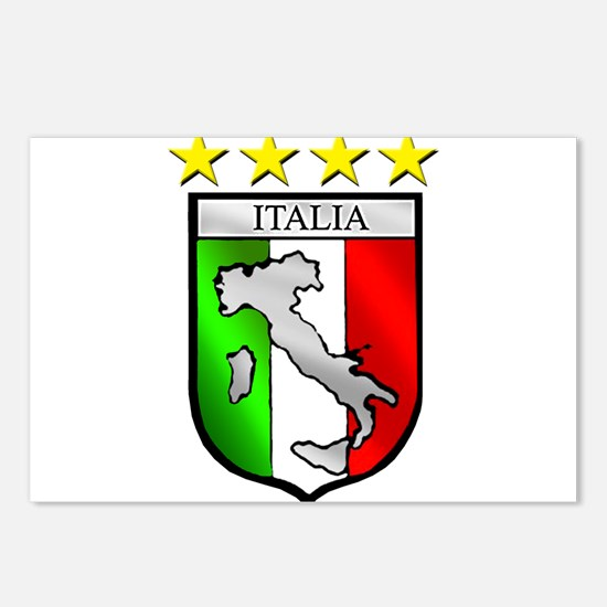 Italy flag emblem coat of Postcards (Package of 8)