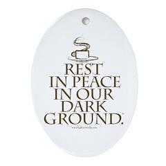 RIP Dark Oval Ornament