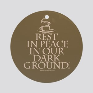 RIP Dark Round Ornament