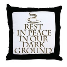RIP Dark Throw Pillow