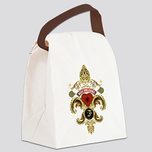 New Orleans Monogram F Canvas Lunch Bag