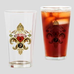 New Orleans Monogram F Drinking Glass
