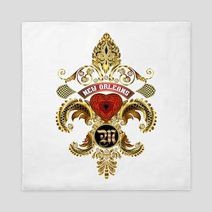New Orleans Monogram M Queen Duvet