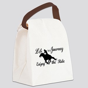 Life is a Journey, Enjoy the Ride Canvas Lunch Bag