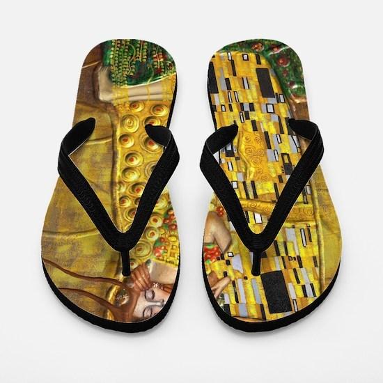 Klimt- Kiss Flip Flops